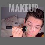 Apply makeup as a man