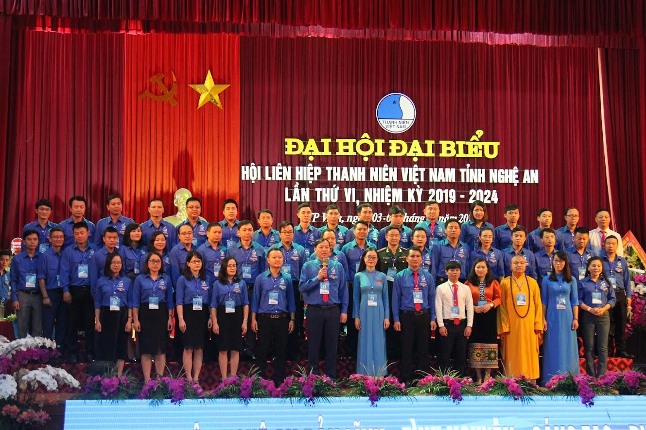 Ủy ban Hội Liên hiệp Thanh niên tỉnh Nghệ An khóa VI, nhiệm kỳ 2019 - 2024 ra mắt Đại hội