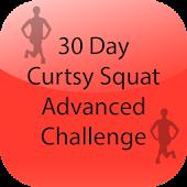 30 Day Curtsy Squat Advanced