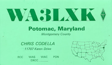 Photo: W7IIZ Print offered complete customization. I could cut up their samples and paste them together and he'd do a great job.  This card is from 1970. That star on the map just about covers the entire state of Maryland.