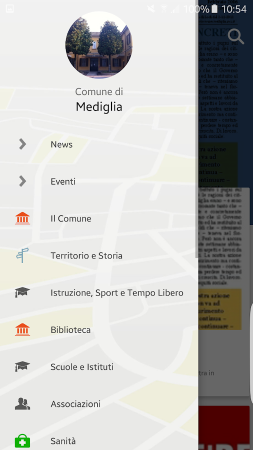 MyMediglia- screenshot