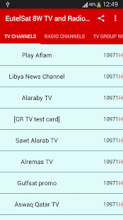 TV and Radio Frequencies of EutelSat Channels - náhled