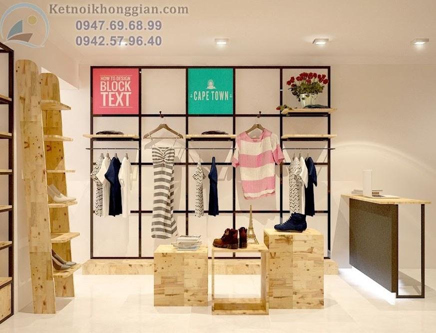 thiết kế shop thời trang hiện đại, trẻ trung