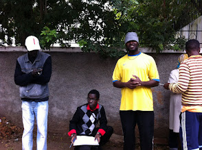 Photo: Friends from Guiné Bissau, waiting for the visa to Mauritania