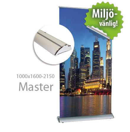Roll up, Master 1000x2000mm, inkl printad bildvåd