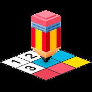 3D Pixel Art - Number Coloring