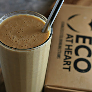 pumpkin pancake smoothie and Eco at Heart Straws