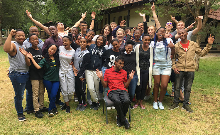Some of the students who have received Vodacom bursaries in 2018.