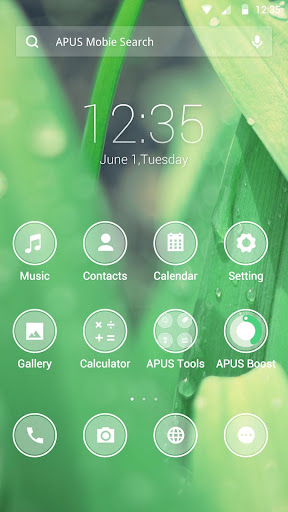 Frosted glass theme for APUS
