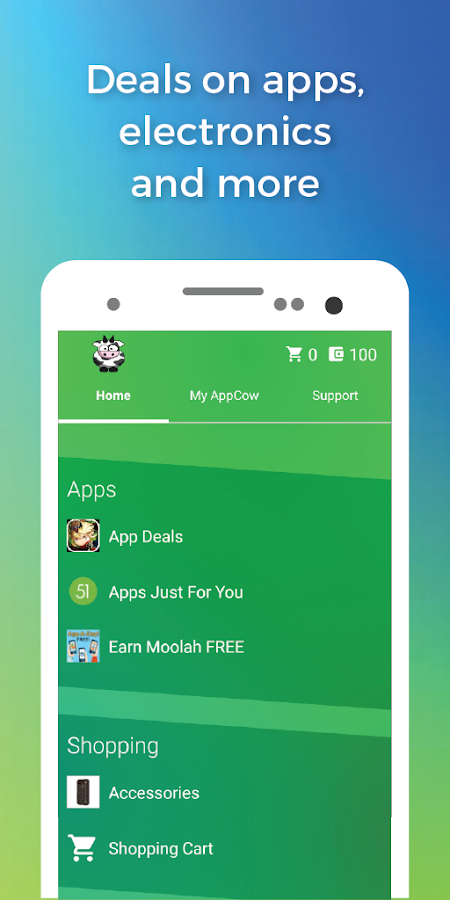 AppCow- screenshot