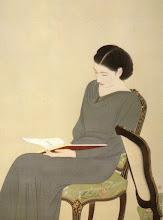 """Photo: Nakamura Daizaburo, """"Donna in lettura"""" (prima metà del Novecento)"""