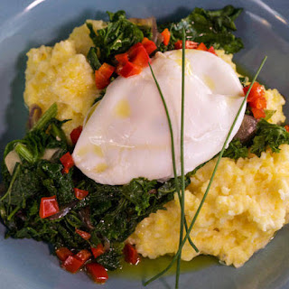 Bobby Flay's Creamy Polenta with Poached Eggs