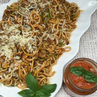 Zucchini and Pasta Spaghetti