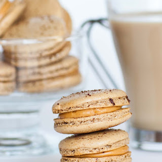 Coffee Macarons with Caramel Filling Recipe