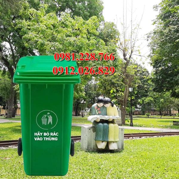 Tìm đơn vị phân phối thùng rác 120 lít composite tại Hà Giang