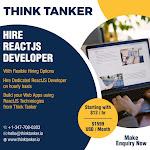 Hire ReactJS Developer Bangalore, Ahmedabad, Pune, Mumbai - ThinkTanker