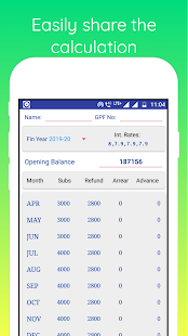 Download GPF Interest Calculator For PC Windows and Mac apk screenshot 4