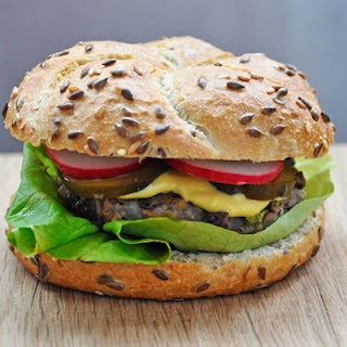 "Vegetarian ""Beef"" Burger | Adzuki Beans Veggie Burger Recipe"