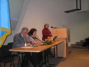 Photo: Läänemaa osakonna juhataja Eha Jaaks ettekannet esitamas.