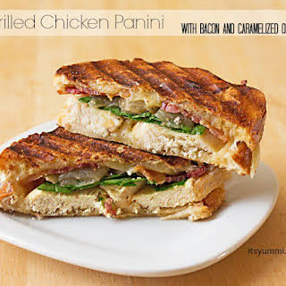 Cheesy Grilled Chicken Bacon Panini.