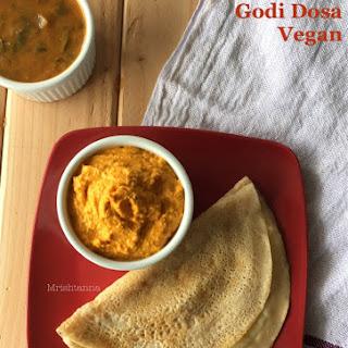 Simple Wheat Flour Dosa – Godi Dosa.