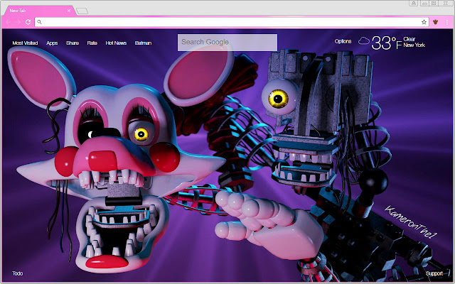 Free Addon Pink Chrome Themes