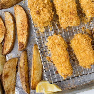 Sheet Pan Fish and Chips Recipe