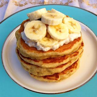Roasted Bananas Foster Pancakes.