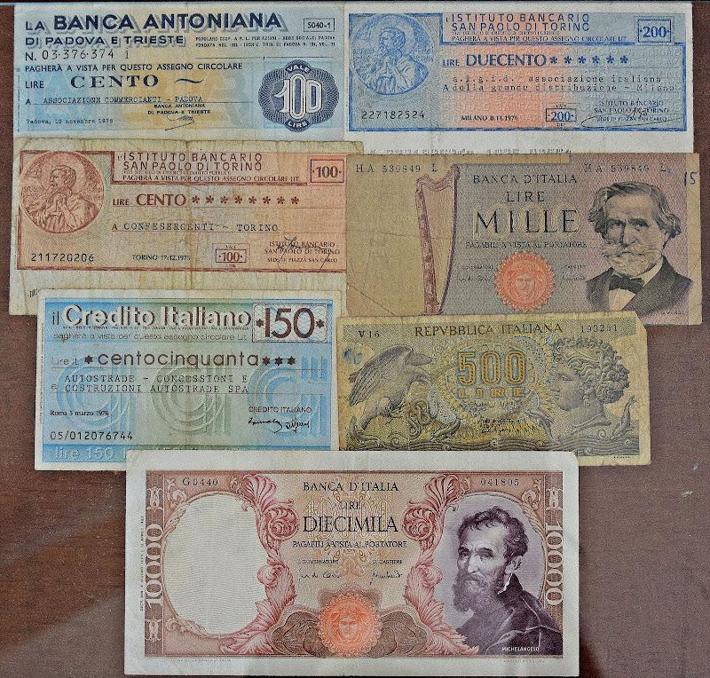 I mini assegni di Luciano Fontebasso