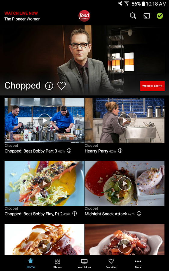 Watch Food Network- screenshot