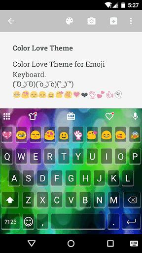 Color Love Emoji For Messenger