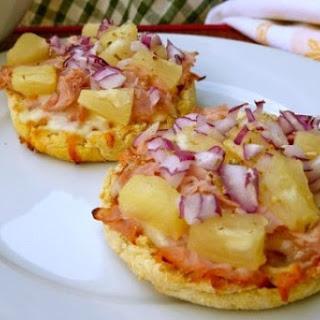 English Muffin Hawaiian Pizza.