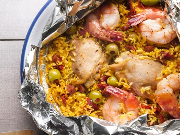 Paella Foil Pack Over Grill Recipe