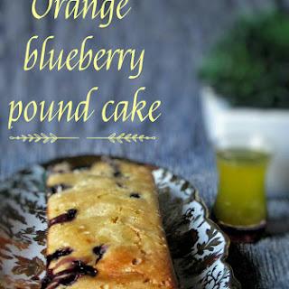 Orange Blueberry Pound Cake, With Orange Syrup