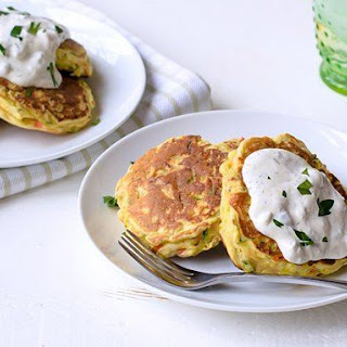 Chicken and Vegetable Pancakes.