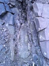 Photo: Křemen-jaspisové žíly v malé etáži nad 1. etáží.