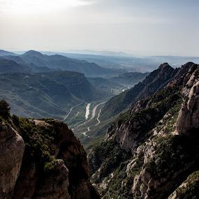 Montserrat by VAM Photography - Landscapes Mountains & Hills ( spain, view, mountains, valley, travel, landscape )