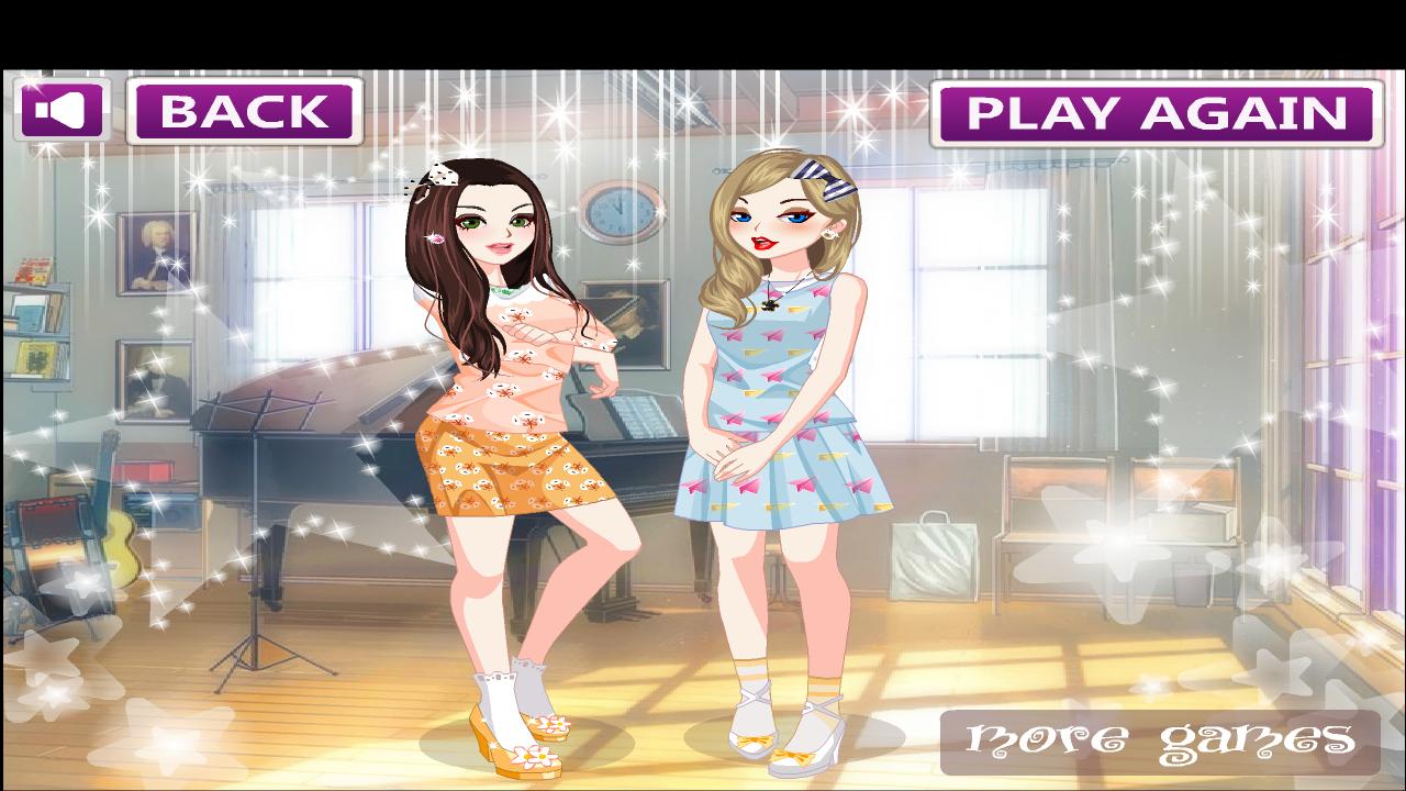 Dress up games girl - Best Friends Dress Up Game Screenshot