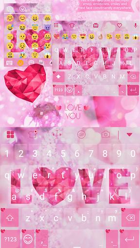 玩免費遊戲APP|下載Valentine Love Keyboard -Emoji app不用錢|硬是要APP