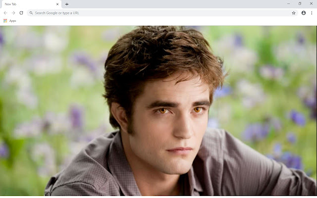 Robert Pattinson New Tab Theme