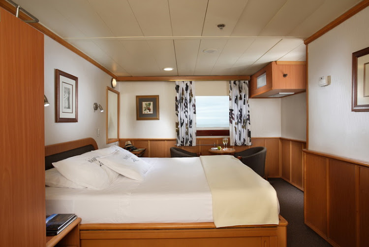 All Isabela II staterooms feature air-conditioning, private bathrooms and safety deposit boxes.