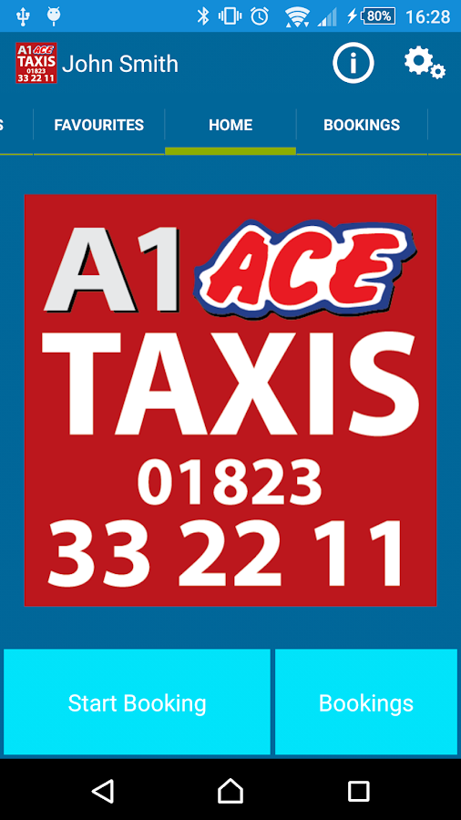 A1 Ace Taxis (Somerset)- screenshot