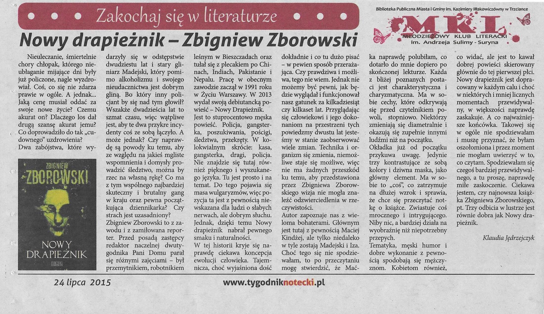 Photo: http://szeptksiazek.blogspot.com/2013/12/nowy-drapieznik-zbigniew-zborowski.html