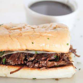 Instant Pot Pressure Cooker French Dip Sandwiches.