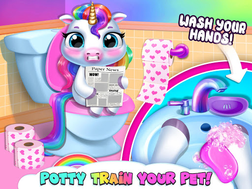 My Baby Unicorn - Virtual Pony Pet Care & Dress Up android2mod screenshots 20
