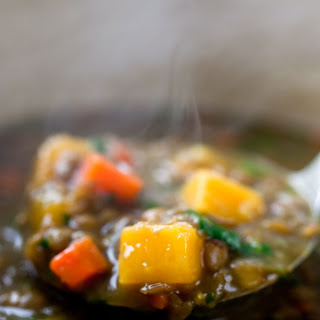 Lentil Stew With Pumpkin or Sweet Potatoes