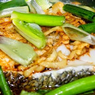 Hong Kong Style Steamed Cod Fish.