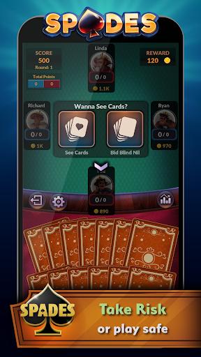 Spades - Offline Free Card Games modavailable screenshots 2