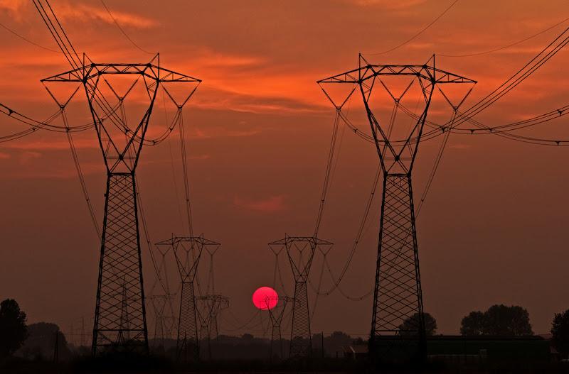 tramonto elettrico di antonioromei