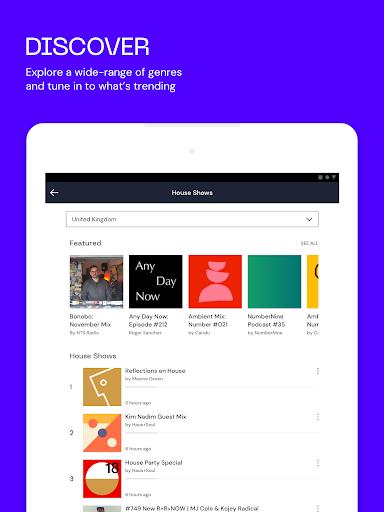 Mixcloud - Radio & DJ mixes 26.2.2 screenshots 9